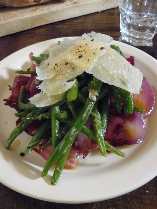 Roasted red onion, green bean and parmesan salad. | rachel ...