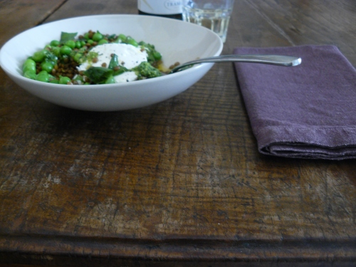 peas. lentils and goats cheese 2