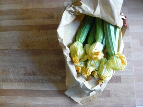 courgettes in bag