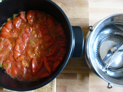 tomatoes cooked down