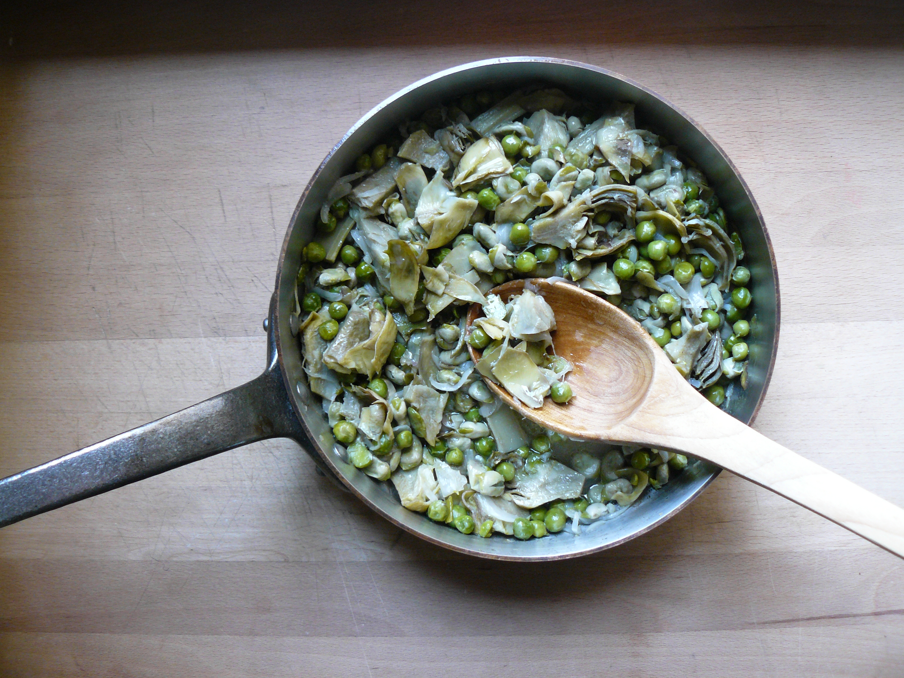 Raw Pea, Broad Bean And Artichoke Salad Recipes — Dishmaps