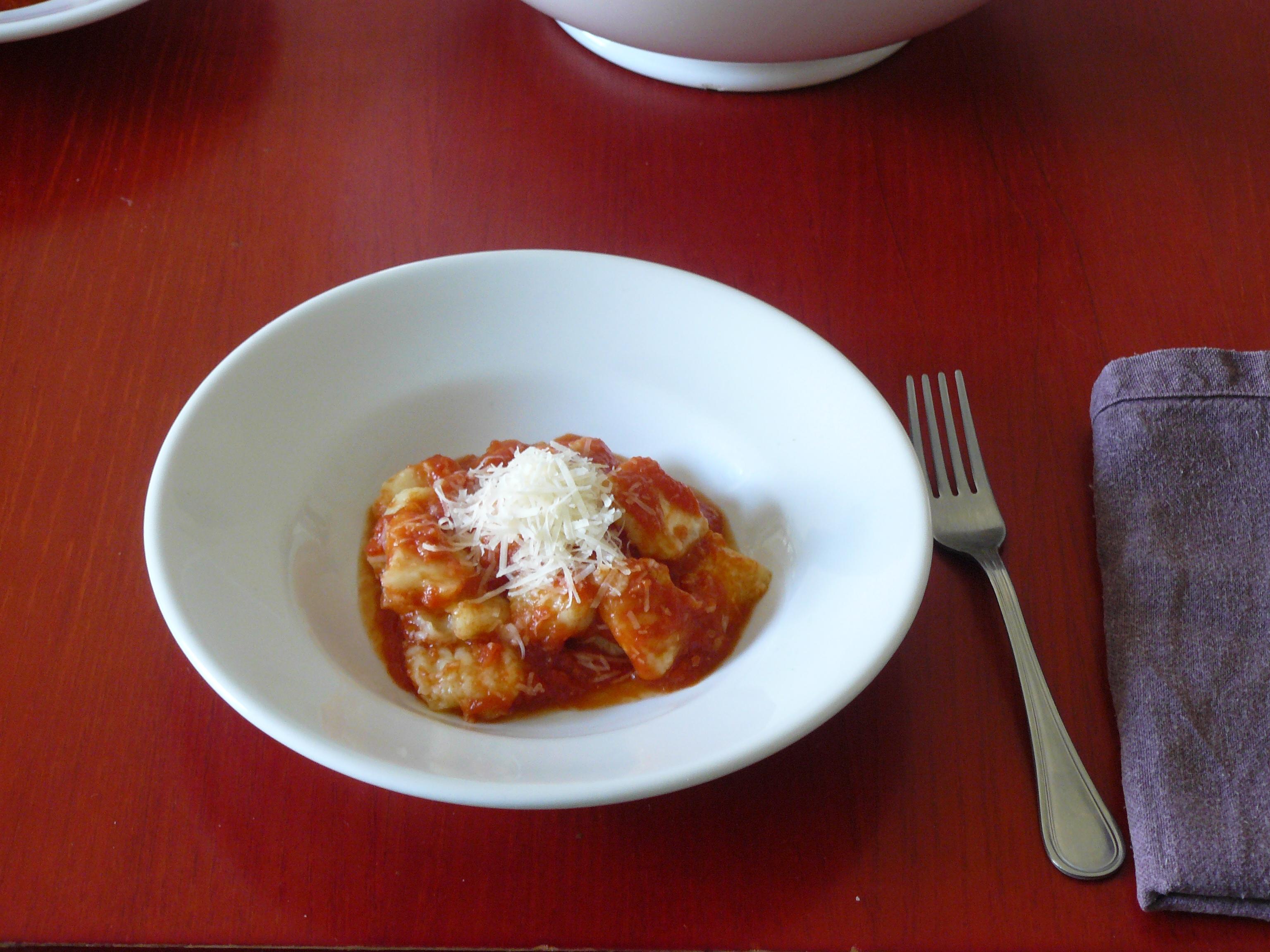 Potato Gnocchi With Tomato-Porcini Sauce Recipe — Dishmaps
